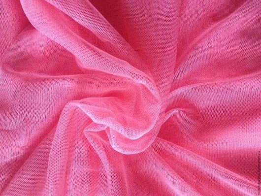 """Шитье ручной работы. Ярмарка Мастеров - ручная работа. Купить Фатин трикотажный """" розовый коралл """". Handmade."""