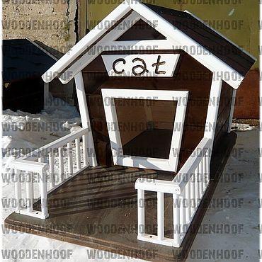 Товары для питомцев ручной работы. Ярмарка Мастеров - ручная работа Уличный домик для кошки. Handmade.