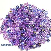 Материалы для творчества handmade. Livemaster - original item 10gr Toho MIX 3207 kawaii Japanese beads TOHO Kawaii violet green. Handmade.