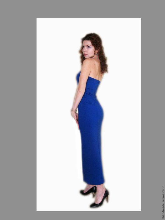 Платья ручной работы. Ярмарка Мастеров - ручная работа. Купить Платье-бюстье синее electric. Handmade. Тёмно-синий