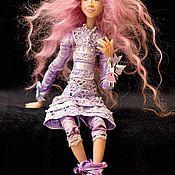 Куклы и игрушки ручной работы. Ярмарка Мастеров - ручная работа Фиолетта с зайцем...или Заяц с Фиолеттой... Handmade.