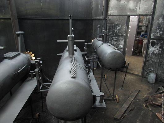 Кухня ручной работы. Ярмарка Мастеров - ручная работа. Купить Подводная лодка(мангал+барбекю+коптильня). Handmade. Черный