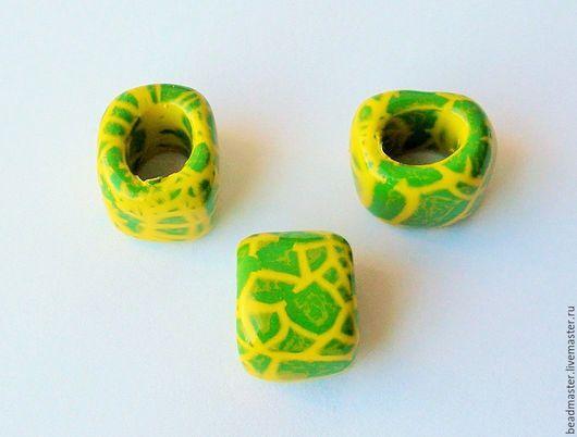 Для украшений ручной работы. Ярмарка Мастеров - ручная работа. Купить Бусина керамическая Регализ (БКР71). Handmade. Желтый, регализ