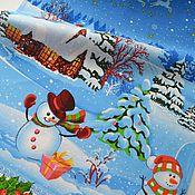 Для дома и интерьера ручной работы. Ярмарка Мастеров - ручная работа Полотенце новогоднее  для кухни, полотенце для рук. Handmade.