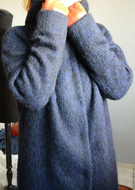 Верхняя одежда ручной работы. Ярмарка Мастеров - ручная работа. Купить Зимнее пальто. Handmade. Тёмно-синий, зимнее пальто