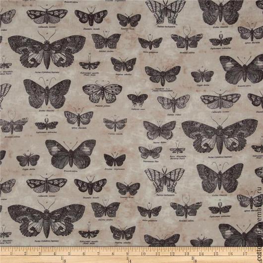 """Шитье ручной работы. Ярмарка Мастеров - ручная работа. Купить (2 вида). Ткань - Тим Хольц. """" Бабочки """". 100% хлопок.. Handmade."""