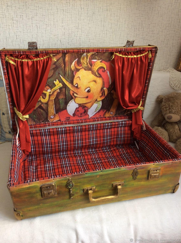 «Богатенький Буратино» Чемодан для кукольного  театра, Кукольный театр, Новосибирск,  Фото №1