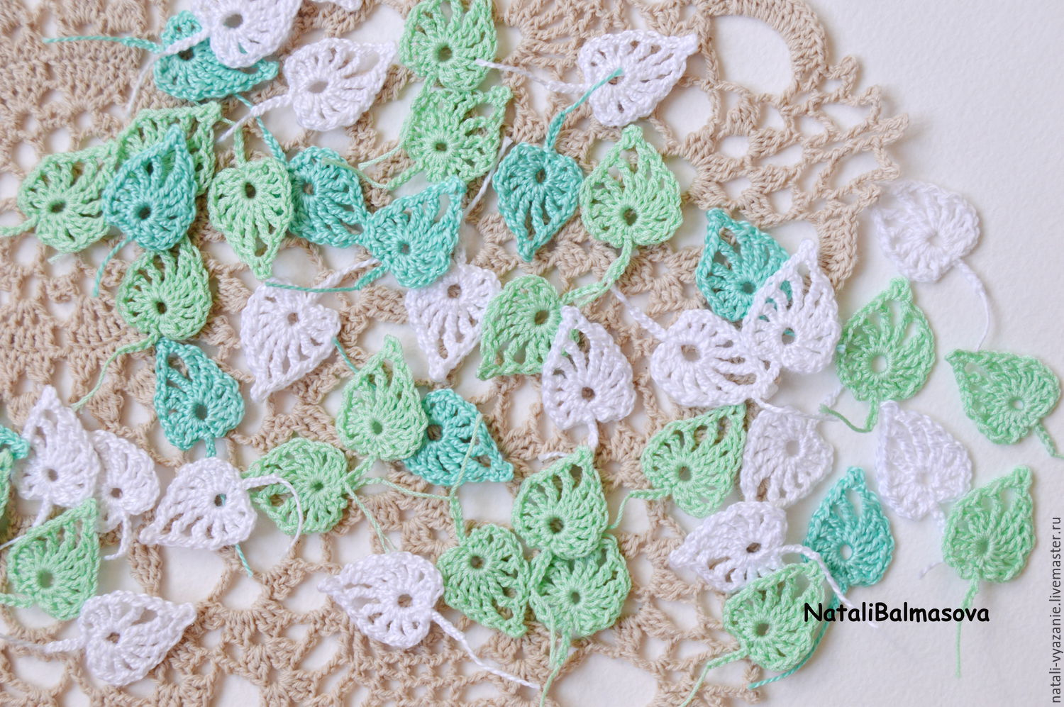 Crochet leaves crochet openwork, Details for dolls and toys, Sosnovyj Bor,  Фото №1