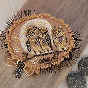 Украшения ручной работы. Ярмарка Мастеров - ручная работа Брошь Три совы. Handmade.