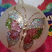 Подарки к праздникам ручной работы. Ярмарка Мастеров - ручная работа Шар стеклянный Бабочка. Handmade.