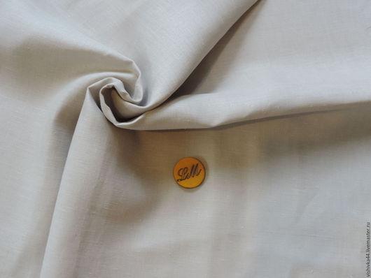 Шитье ручной работы. Ярмарка Мастеров - ручная работа. Купить Лен ткань серо-белый плотный. Handmade. Лен