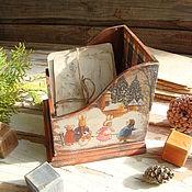 """Подарки к праздникам ручной работы. Ярмарка Мастеров - ручная работа Короб """"Зима в Лисьем лесу"""". Handmade."""