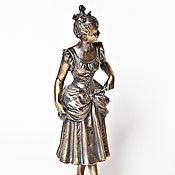 Статуэтки ручной работы. Ярмарка Мастеров - ручная работа Девушка кокетка скульптура  бронза. Handmade.