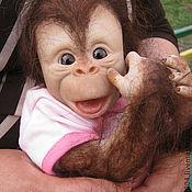Куклы и игрушки ручной работы. Ярмарка Мастеров - ручная работа обезьянка Катерина. Handmade.