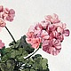 """Картины цветов ручной работы. Ярмарка Мастеров - ручная работа. Купить Картина """"Герань"""". Handmade. Картина цветов, картина в подарок"""