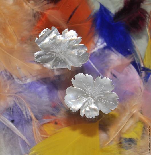 Для украшений ручной работы. Ярмарка Мастеров - ручная работа. Купить Перламутр Цветок №7. Handmade. Белый
