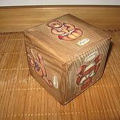 """Куклы и игрушки ручной работы. Ярмарка Мастеров - ручная работа Кубик большой """"I love Teddy"""". Handmade."""