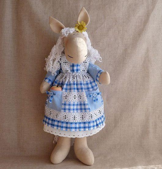 Игрушки животные, ручной работы. Ярмарка Мастеров - ручная работа. Купить Барышня лошадка. Handmade. Текстильная игрушка, текстильная кукла