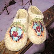"""Обувь ручной работы. Ярмарка Мастеров - ручная работа Тапки """"Зефир"""". Handmade."""