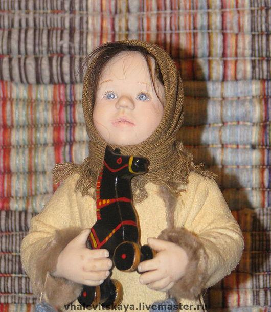 Коллекционные куклы ручной работы. Ярмарка Мастеров - ручная работа. Купить Душечка. Handmade. Подарок, бежевый, русская кукла, текстиль