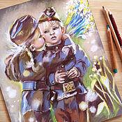 Картины и панно handmade. Livemaster - original item Heroes, pastel painting. Handmade.