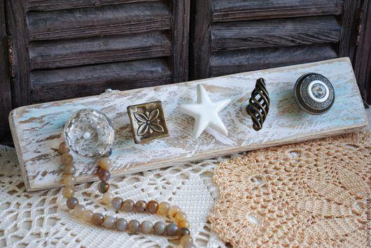 """Прихожая ручной работы. Ярмарка Мастеров - ручная работа. Купить Вешалка для бижутерии """"Wite Sea"""". Handmade. Вешалка, винтажный стиль"""