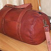 Спортивная сумка ручной работы. Ярмарка Мастеров - ручная работа Сумка спортивная кожаная. Handmade.