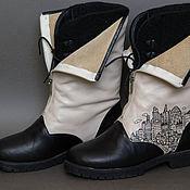 Обувь ручной работы. Ярмарка Мастеров - ручная работа Ботинки ручной работы с рисунком. Handmade.