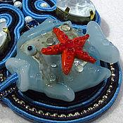 Украшения handmade. Livemaster - original item Soutache pendant with copyright lampworker