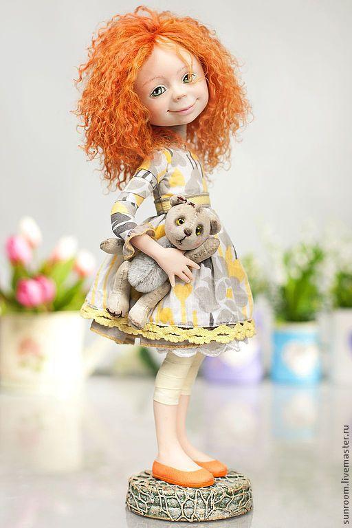 """Коллекционные куклы ручной работы. Ярмарка Мастеров - ручная работа. Купить По мотивам """"Любимая игрушка"""". Handmade. Рыжий, кукла"""