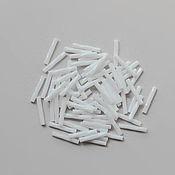 Материалы для творчества handmade. Livemaster - original item Miyuki 2x12mm Twisted bugle. White Opaque, 5 g. Handmade.