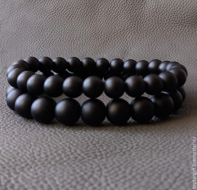 Мужские браслеты из шунгита и лавы