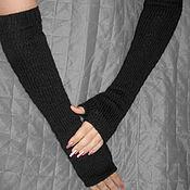 Аксессуары handmade. Livemaster - original item Elegant long knitted fingerless gloves. Handmade.