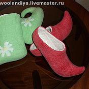 Обувь ручной работы. Ярмарка Мастеров - ручная работа сказочные тапко-валенки. Handmade.