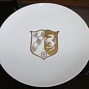 Винтаж handmade. Livemaster - original item Large, porcelain, Cabinet plate with coat of arms, Rosenthal, Germany. Handmade.