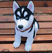 Подарки к праздникам handmade. Livemaster - original item a husky puppy lord(toys felt). Handmade.