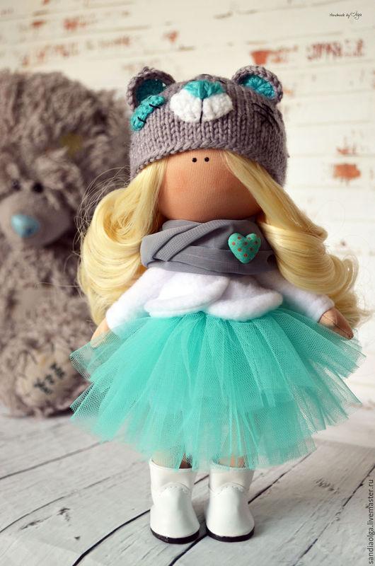 Куклы тыквоголовки ручной работы. Ярмарка Мастеров - ручная работа. Купить Малышка тедди. Handmade. Бирюзовый, кукла для девочки