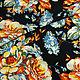 Шитье ручной работы. Штапель яркие цветы на черном BT 9002744. Ткани Fashion Fabric (fashion-fabric). Интернет-магазин Ярмарка Мастеров.