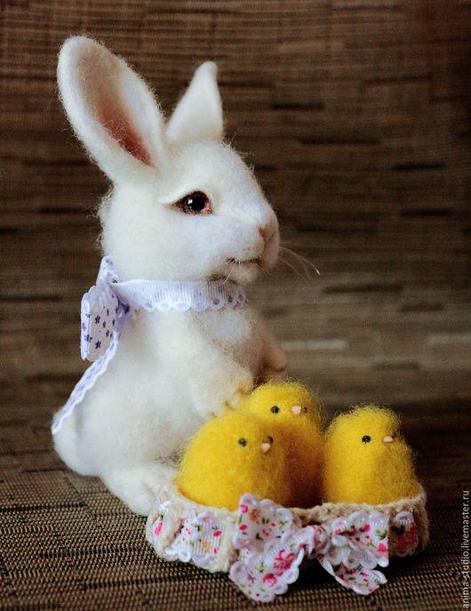 Игрушки животные, ручной работы. Ярмарка Мастеров - ручная работа. Купить Пасхальный кролик(без повтора). Handmade. Кролик, цыплята