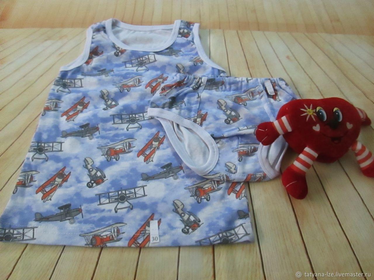 Комплект нижнего белья для мальчика- ручная работа, Для новорожденных, Курск, Фото №1
