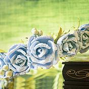 """Украшения ручной работы. Ярмарка Мастеров - ручная работа Венок """"Небесные розы"""". Handmade."""