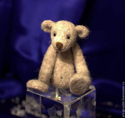 Мишки Тедди ручной работы. Ярмарка Мастеров - ручная работа. Купить Мишка Марфик. Handmade. Серый, подарок, валяние