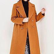 Одежда ручной работы. Ярмарка Мастеров - ручная работа Двубортное утепленное пальто в стиле MaxMara. Handmade.