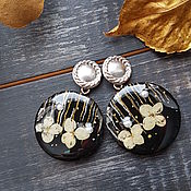 Украшения handmade. Livemaster - original item Earrings with real hydrangea flowers. Handmade.