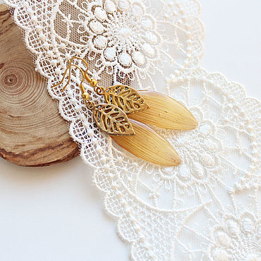 Decorations handmade. Livemaster - original item earrings: Sunflower. Handmade.