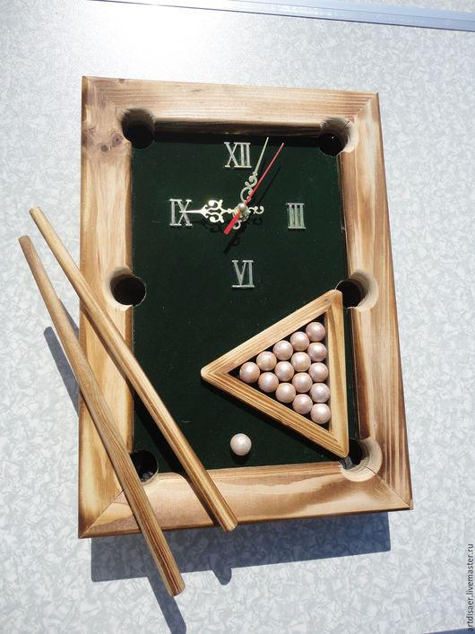 Часы для дома ручной работы. Ярмарка Мастеров - ручная работа. Купить Шар в лузу. Handmade. Зеленый, бильярд, хороший подарок