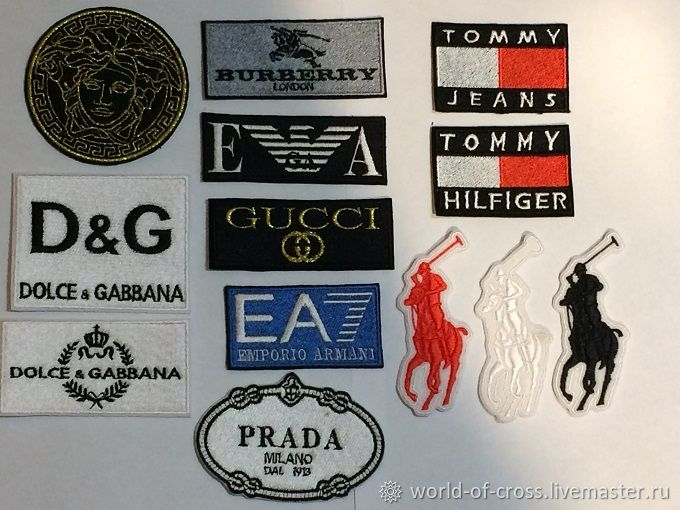 Набор Нашивки Логотипы (13шт), Аппликации, Петродворец,  Фото №1