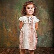 Работы для детей, handmade. Livemaster - original item Felted dress for girl