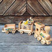 Техника, роботы, транспорт ручной работы. Ярмарка Мастеров - ручная работа Деревянный Паровозик для мальчика. Handmade.