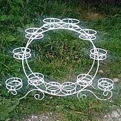 Цветы и флористика handmade. Livemaster - original item Stand for flower pots 12. Handmade.